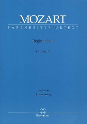 MOZART - Regina Coeli - DO Majeur KV 276 (321b) - Partition - di-arezzo.fr