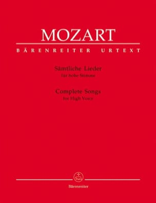 MOZART - Sämtliche Lieder. Aloud. - Partition - di-arezzo.co.uk