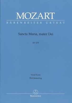 MOZART - Sancta Maria, Mater Dei. K 273 - Partition - di-arezzo.fr
