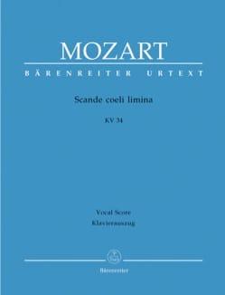 MOZART - Scande Coeli Limina - K 34 - Partition - di-arezzo.fr