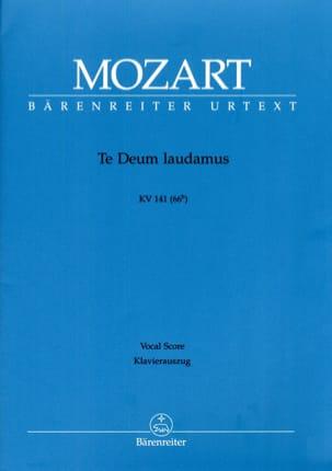 MOZART - Te Deum Laudamus. K 141 Urtext Der Mozart Neuen-Ausgabe - Sheet Music - di-arezzo.co.uk