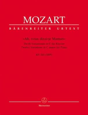MOZART - 12 Variations sur Ah, vous Dirai-Je, Maman K 265 (300e) - Partition - di-arezzo.fr
