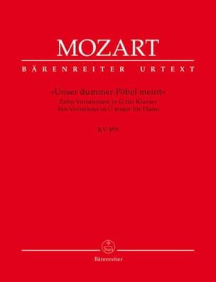 MOZART - Variationen über die Ariette Unser dummer Pöbel meint aus Pilger von Mekka v - Partition - di-arezzo.fr