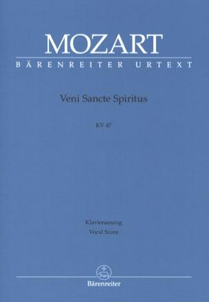 MOZART - Veni Sancte Spiritus. Offertorium. K 47 - Partition - di-arezzo.fr