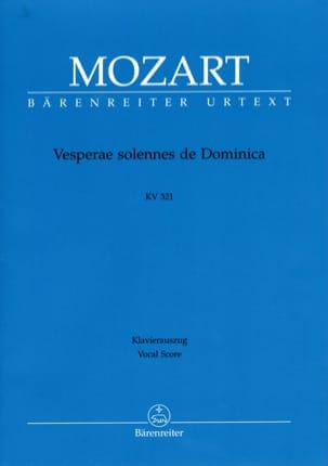 MOZART - Vesperae Solennes de Dominica. K 321 - Partition - di-arezzo.fr