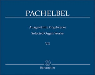 Oeuvre Pour Orgue Volume 7 PACHELBEL Partition Orgue - laflutedepan