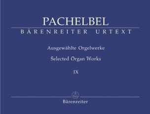 Johann Pachelbel - Work For Organ Volume 9 - Sheet Music - di-arezzo.co.uk