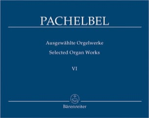 Oeuvre Pour Orgue Volume 6 PACHELBEL Partition Orgue - laflutedepan