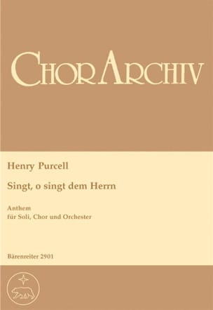Henry Purcell - O, Sing Unto The Lord. Conducteur - Partition - di-arezzo.fr