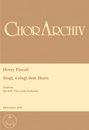 Henry Purcell - Singt, O Singt Dem Herrn. Choeur - Partition - di-arezzo.fr