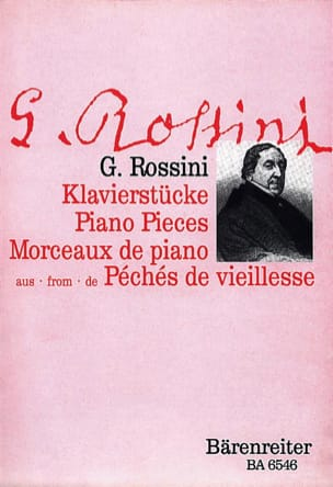 5 Klavierstücke ROSSINI Partition Piano - laflutedepan