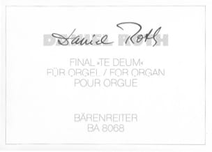 Daniel Roth - Final Te Deum - Sheet Music - di-arezzo.co.uk