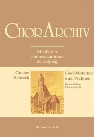 Gustav Schreck - Lied-Motetten Und Psalmen - Partition - di-arezzo.fr