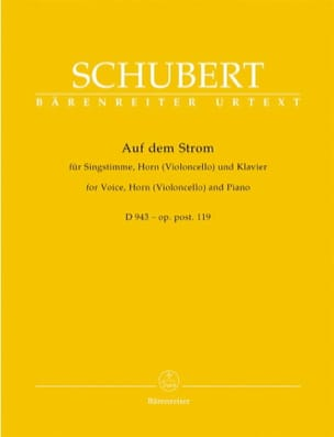 SCHUBERT - Auf Dem Strom Opus 119 D 943 - Sheet Music - di-arezzo.co.uk