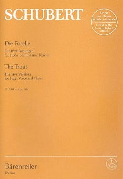 Franz Schubert - Die Forelle D 550. Op. 32 - Partition - di-arezzo.fr