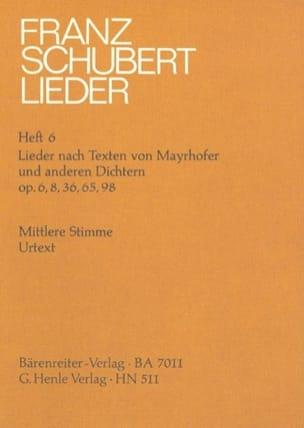 SCHUBERT - Lieder nach Texten Mayrhofer und anderen Dichtern. Transposition - Partition - di-arezzo.fr