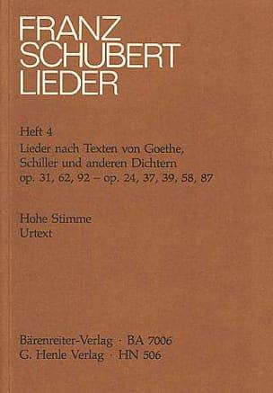 Franz Schubert - Lieder Voix Haute D'après des Textes De Goethe, Schiller et Autres Poetes - Partition - di-arezzo.fr