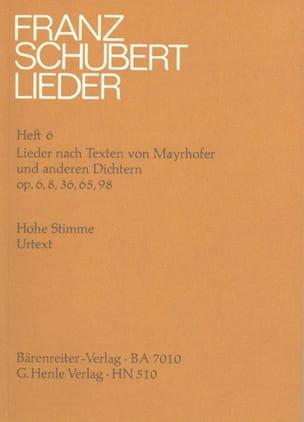 Franz Schubert - Lieder nach Texten von Mayrhofer und anderen Dichtern. (Originallage) - Partition - di-arezzo.fr