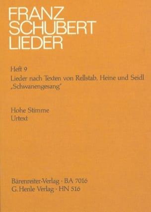 Franz Schubert - Schwanengesang D 957 - Die Taubenpost D 965 - Voix Haute. - Partition - di-arezzo.fr