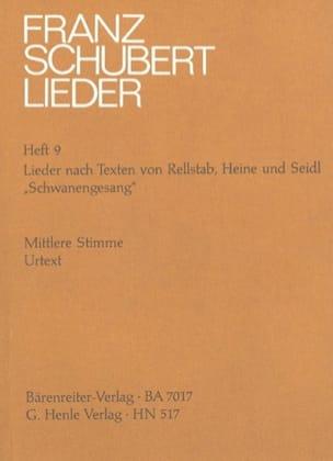 Franz Schubert - Schwanengesang D 957 - Die Taubenpost D 965 - Voix Moyenne. - Partition - di-arezzo.fr