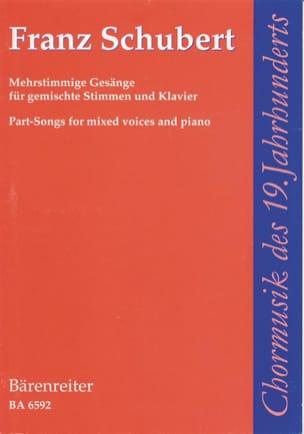 Franz Schubert - Mehrstimmige Gesänge für gemischte Stimmen und Klavier - Partition - di-arezzo.fr