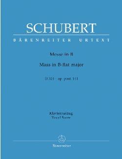 Franz Schubert - Messe B-dur D 324. Urtext der Neuen Schubert-Ausgabe - Partition - di-arezzo.fr