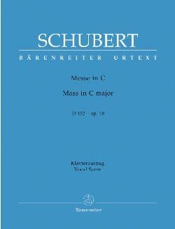 Franz Schubert - Messe Do Maj D 452. Urtext Der Neuen Schubert-Ausgabe - Partition - di-arezzo.fr