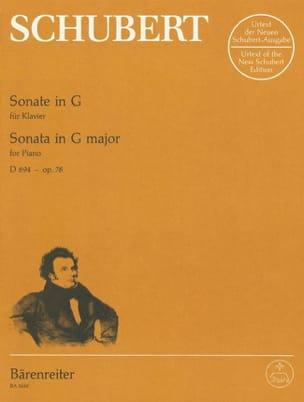 Sonate pour piano en Sol majeur op. 78 D 894 - laflutedepan.com