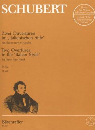 Franz Schubert - 2 Ouvertures Dans le Style Italien D 592 ; 597 - Partition - di-arezzo.fr