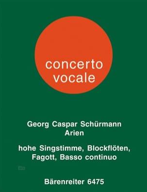 Georg C Schürmann - 6 Arien aus Opern des Barock für hohe Singstimme, 1 oder 2 Altblockflöten und Ba - Partition - di-arezzo.fr