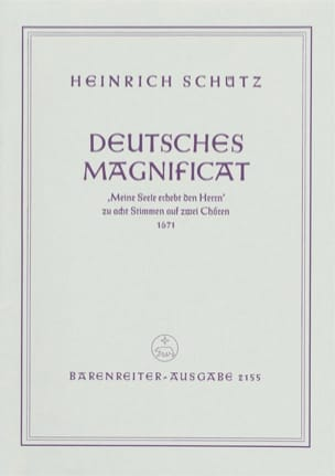 Heinrich Schütz - Deutsches Magnificat Aus: Schwanengesang 1671 Swv 494 - Partition - di-arezzo.fr