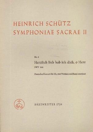 Heinrich Schütz - Herzlich Lieb Hab Ich Dich, O Herr Swv 348 - Partition - di-arezzo.fr