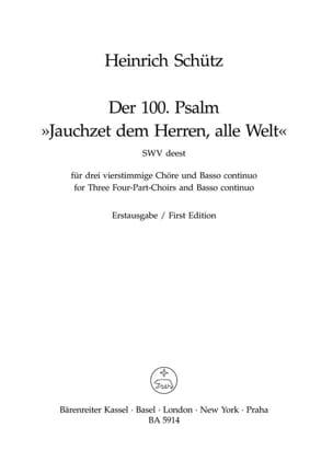 Jauchzet dem Herren, alle Welt - Psalm 100 - laflutedepan.com
