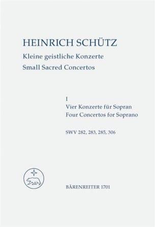 Heinrich Schütz - Kleine geistliche Konzerte. Heft 1. Nach Band 10 der Neuen Schütz-Ausgabe - Partition - di-arezzo.fr