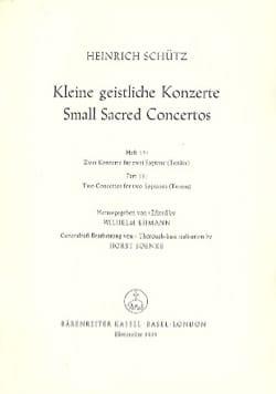 Heinrich Schütz - Kleine Geistliche Konzerte. Volume 15 - Partition - di-arezzo.fr