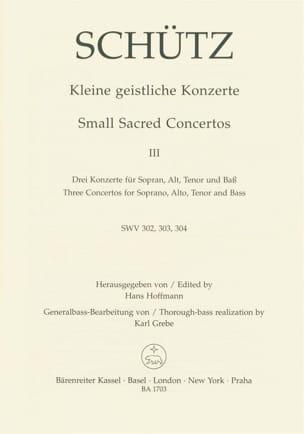 Heinrich Schütz - Kleine geistliche Konzerte. Heft 3. - Partition - di-arezzo.fr