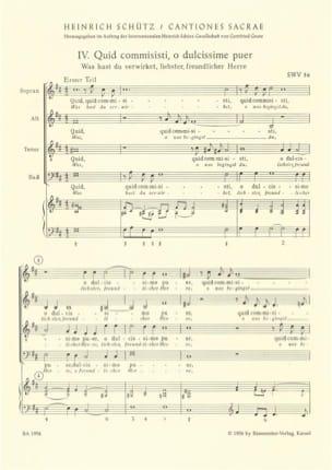 Heinrich Schütz - Passionsmotetten (Nr. 4 - 8) aus Cantiones sacrae 1625. Nach Band 8 der Neuen - Partition - di-arezzo.fr