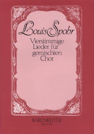 Louis Spohr - Vierstimmige Lieder für gemischten Chor - Partition - di-arezzo.fr