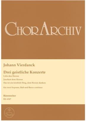 Johann Vierdanck - 3 Geistliche Konzerte - Partition - di-arezzo.fr