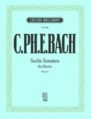 Die 6 Sonaten Wq 55 Carl-Philipp Emanuel Bach Partition laflutedepan