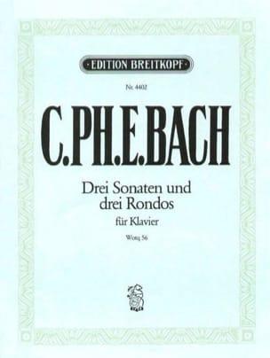 Carl-Philipp Emanuel Bach - 3 Sonates et 3 Rondos Wq 56 - Partition - di-arezzo.fr