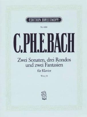 Carl-Philipp Emanuel Bach - 2ソナタ、3ロンド、2ファンタジーWQ 58 - Partition - di-arezzo.jp
