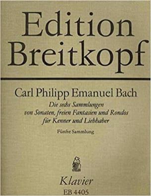 Carl-Philipp Emanuel Bach - Die 6 Sammlungen, Heft 5 Wotq 59 - Partition - di-arezzo.com