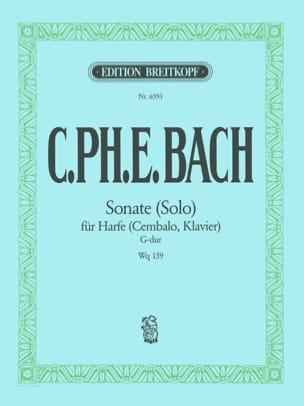 Carl-Philipp Emanuel Bach - Sonate Solo G-Dur Wq 139 - Partition - di-arezzo.fr