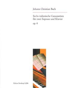 Johann Christian Bach - 6 Italienische Canzonetten Opus 4 - Partition - di-arezzo.fr