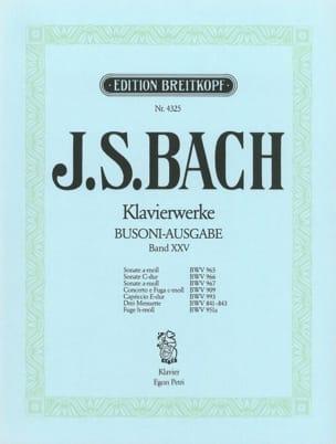 Bach Jean-Sébastien / Busoni Ferruccio - 3 Sonaten Und Andere Werke. Volume 25 - Partition - di-arezzo.fr