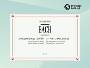 BACH - 371 4-part chorales - Sheet Music - di-arezzo.co.uk