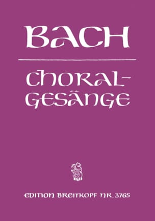 BACH - 389 Choralgesänge - Sheet Music - di-arezzo.co.uk