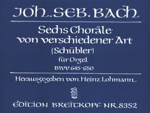 BACH - 6 Schübler-Choräle BWV 645-650 - Partition - di-arezzo.fr