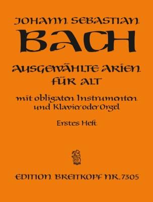 Jean-Sébastien Bach - Airs de Cantates Alto Volume 1 - Partition - di-arezzo.fr